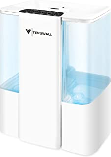 Cool Mist Humidifier, 5L Top Fill Design Ultrasonic Humidifiers Last 42 Hours, Adjustable Mist Output, 360°Nozzle Quiet Op...