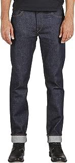 Jeans Men's The Pen Slim Straight Raw 14 oz 4-Way Stretch Selvedge Denim Slim Fits Made in USA