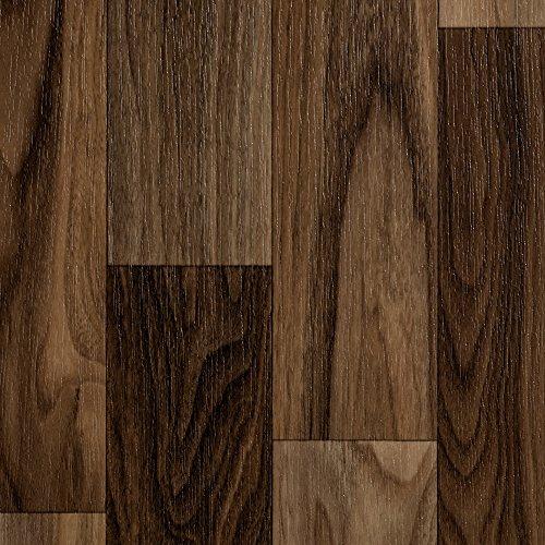 BODENMEISTER BM70568 Vinylboden PVC Bodenbelag Meterware 200, 300, 400 cm breit, Holzoptik Schiffsboden Nussbaum