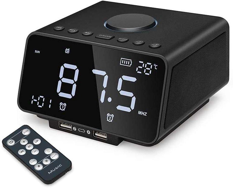 Liuxi Digital Alarm Clock, Multifunction Desktop Alarm Clock FM Radio with Wireless blueetooth Speaker Player Music Alarm Clock