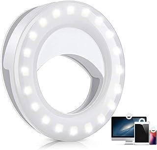 Selfie Ring Light Clip on Laptop, USB Rechargeable Mini...