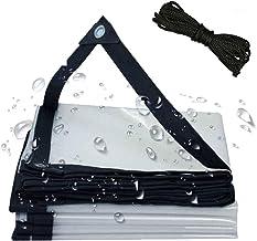 Transparant Zeildoek 4x6m, Waterdicht Zeildoek Met Oogjes, Beschermend Zeildoek Voor Buiten, 120 G/M², Voor Tuin, Zwembad,...
