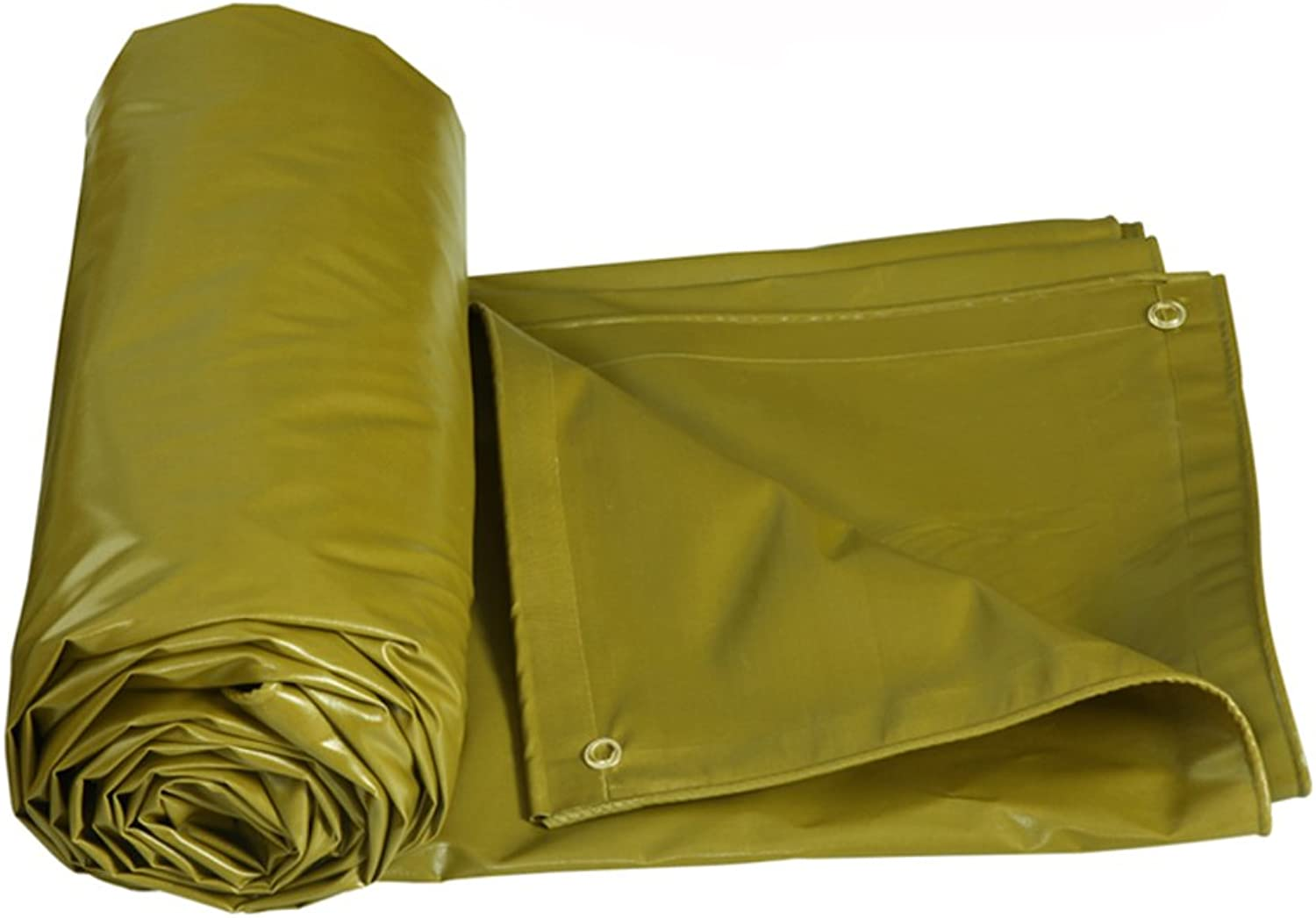 GLJ Thickened Rainproof Waterproof Sunscreen Awning Tarpaulin Truck Car Tarpaulin Awning Cloth Tarpaulin (color   Military Yellow, Size   6  5m)