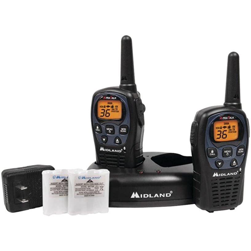 MIDLAND LXT560VP3 26-Mile GMRS Radio Pair Pack with Drop-in Charger & Rechargeable Batteries consumer electronics Electronics