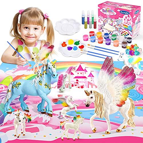 EUCOCO Licorne Peinture Enfant, Cadeaux Pour Fille 3-12 Ans Loisirs Créatifs Fille 3-12 Ans Kit...