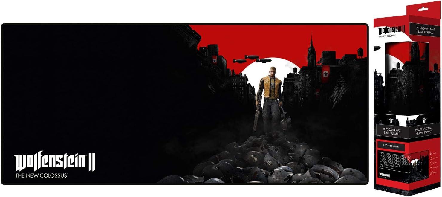 Gaya Entertainment Wolfenstein II The New Colossus Trail of The Dead - Alfombrilla de ratón (800 x 350 x 4 mm) (1029549)