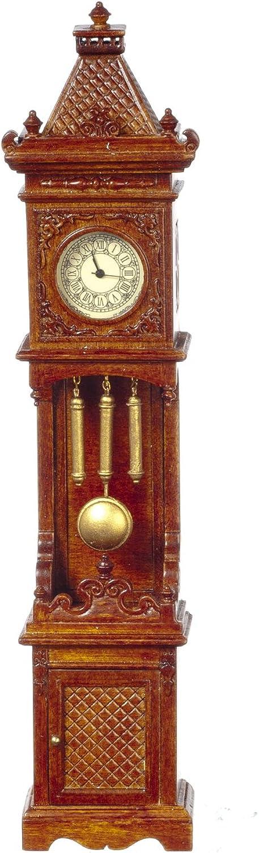 Melody Jane Dollhouse Working Walnut Gothic Victorian Grandfather Clock JBM Miniatures