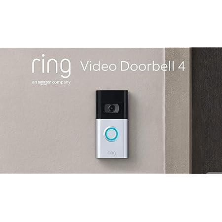 Nuevo Ring Video Doorbell 4 de Amazon: vídeo HD con comunicación bidireccional, vistas previas de vídeo Pre-Roll en color, con batería | Incluye una prueba de 30 días gratis del plan Ring Protect