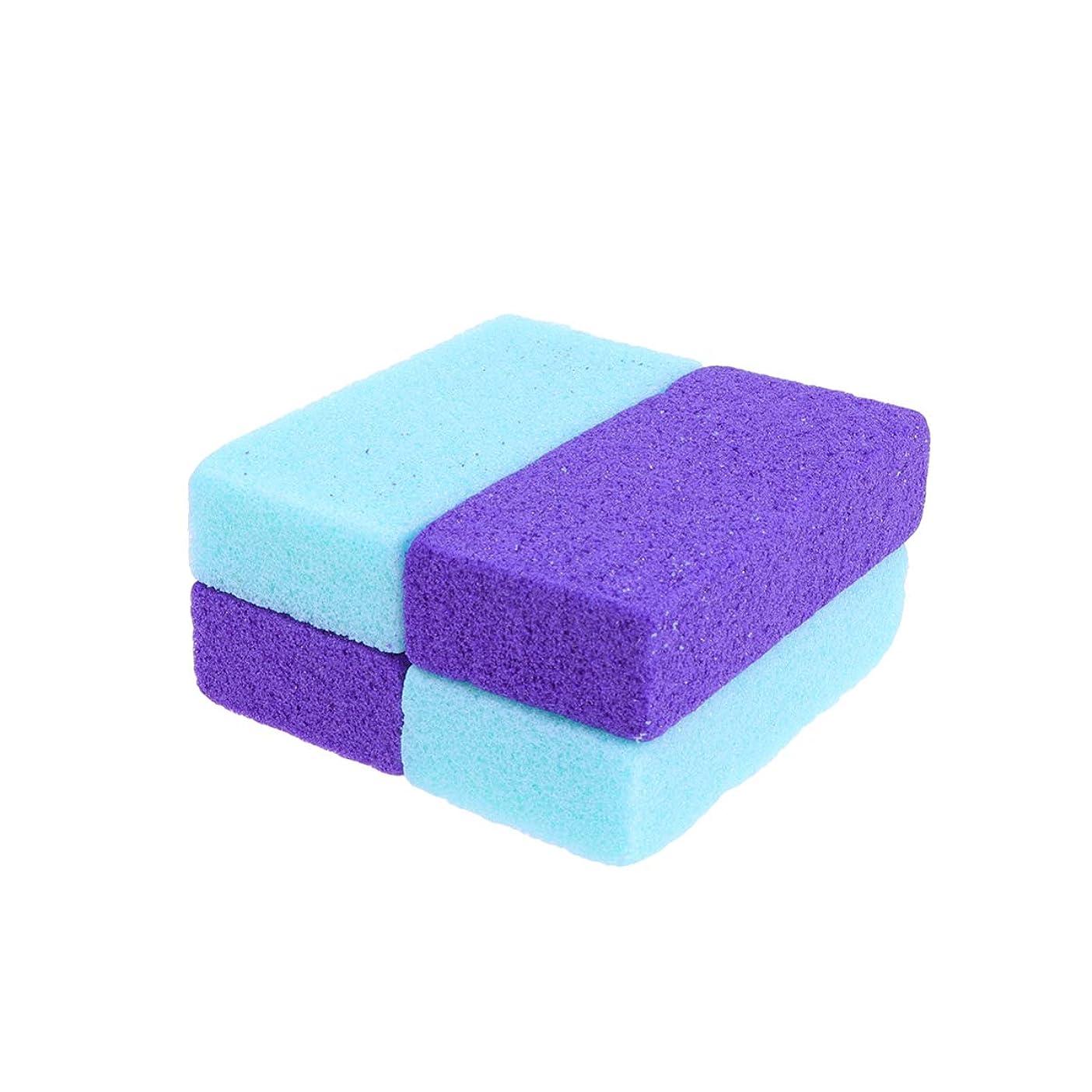 量展示会バトルSUPVOX 4ピース軽石石カルスリムーバー用足かかとペディキュア剥離自然足ファイル剥離ツール手ボディ