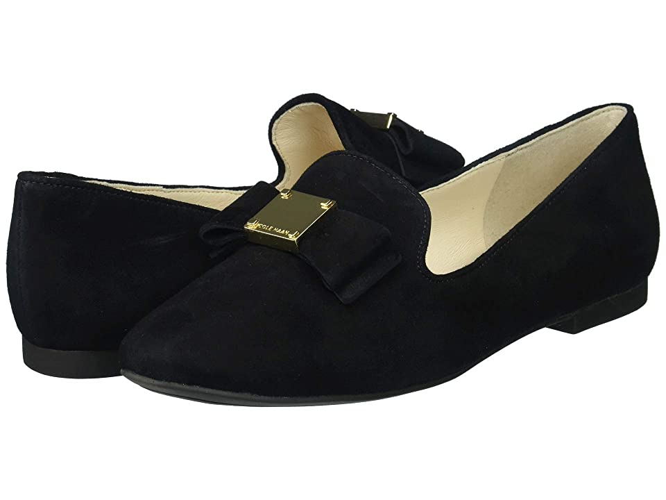Cole Haan Tali Bow Loafer (Black Suede) Women's Shoes