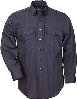 5.11 Tactical Men's B Class Long Sleeve Station Shirt, Fire Navy, Large