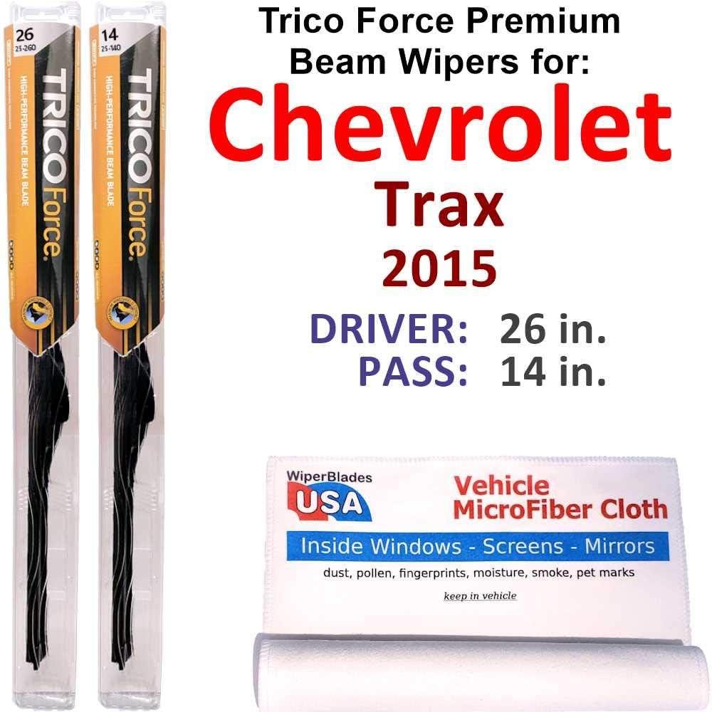 Premium Beam Wiper Blades for 2015 Set 入荷予定 Trax Chevrolet Trico 激安セール Forc