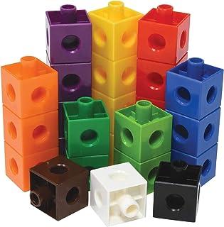 مكعبات البناء ماث لينك كبيرة من هايدير، العاب للخيال، مكعبات رياضية، تنمية مهارات الرياضيات المبكرة، مجموعة من 100 مكعب، م...