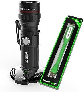 Nebo Redline RC 6392 dock rechargeable 320 lumen LED flashlight with EdisonBright USB reading light bundle