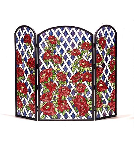 Best Price 40 Inch W X 34 Inch H Roses Trellis Fireplace Screen Fireplace Screens