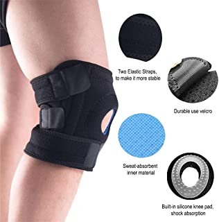 BestSupport Knee-Brace Support for Joint Pain Relief, Athritis and Injury Recovery Adjustable Compression-Sleeve for Men and Women (1 Pack)