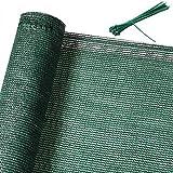 Detex Clôture de 1 m de Haut - Vert - 10 m de Haut - 85% d'ombre - Clôture de Balcon - Brise-Vue - Filet d'ombrage