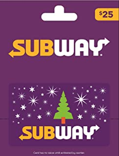 subway holiday gift cards