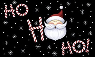 Toland Home Garden Ho Ho Ho Santa 18 x 30 Inch Decorative Floor Mat Winter Snowflake Christmas Claus Holiday Doormat