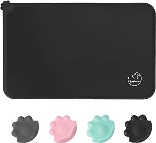 Juqiboom Silicone Waterproof Dog Cat Pet Feeding Mats, Non Slip, Easy Clean Pet Dog Cat Bowl Mats Placemat