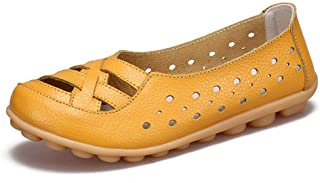 Women's Penny Loafers Fashion Woven Breathable Hollow Slip On Comfort Driving Moccasins Casual Shoes
