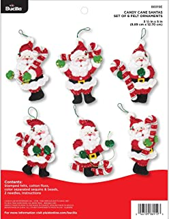 Bucilla 86919E Felt Applique 6 Pc. Ornament Kit, 3.5