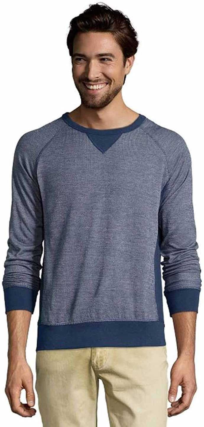 Jachs New York Mens Crew Neck French Terry Premium Long Sleeve Pullover Sweater