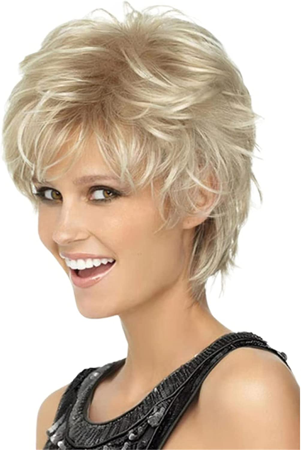 ZYC Mix Brown Blonde Pixie Cut Wig Now free shipping Nippon regular agency Ombre Shaggy Layered Women's