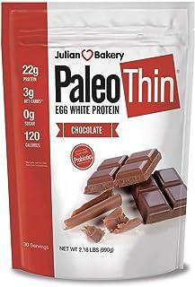 Sponsored Ad - Julian Bakery Paleo Thin Protein Powder | Chocolate | Egg White | Soy Free | 22g Egg White Protein | 3 Net ...