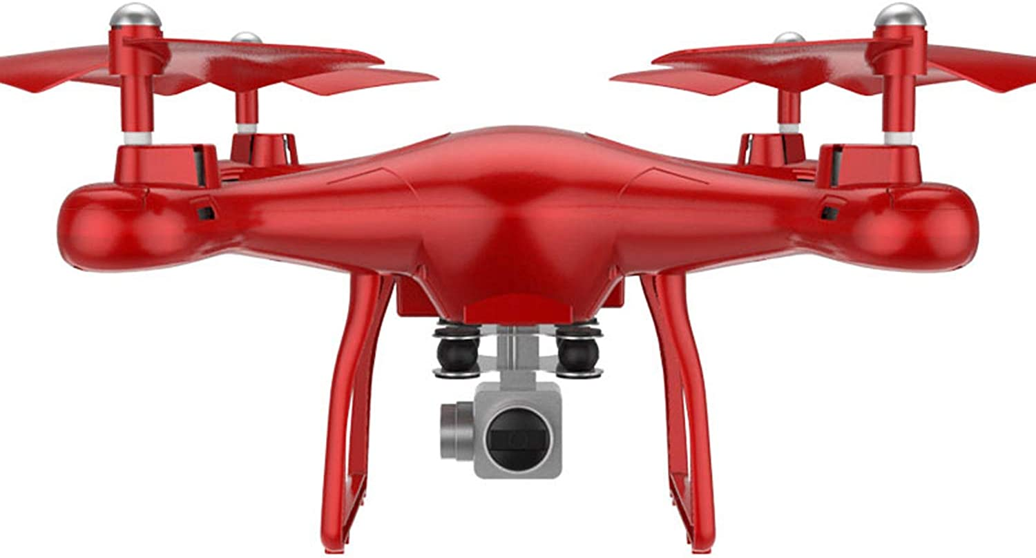 Sgkhz Quadcopter, Mini Drone,1080P Hd Rc Helicopter Live Video, Gps Return Home, Track Flight Height Retention App Control Collapsible,Red,720P