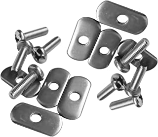 4 Sets Durable Stainless Steel Screws /& Nuts Hardware for Kayak Track// Rail H KM