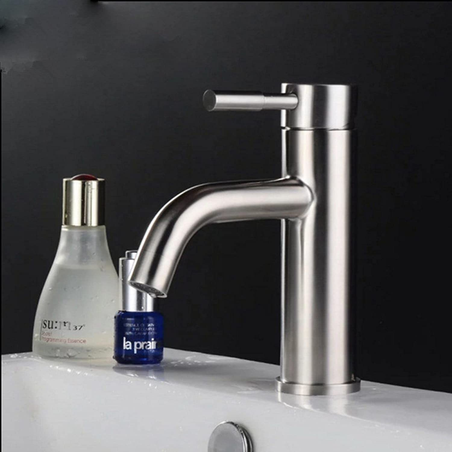 MDRW-Bathroom Basin Tap Hot And Cold Stainless Steel Hose Sit Type Single Hole Basin Stage Basin Wash Basin Tap