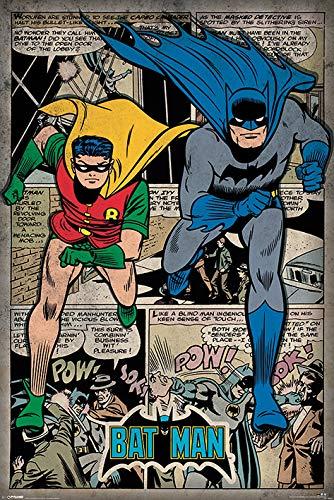 1x Batman Comic Montage Póster Fabricado en el Reino Unido. 61cm x 91.5cm (24x 36pulgadas) de tamaño Enrollado en un tubo de cartón Producto oficial de DC Comics Merchandise