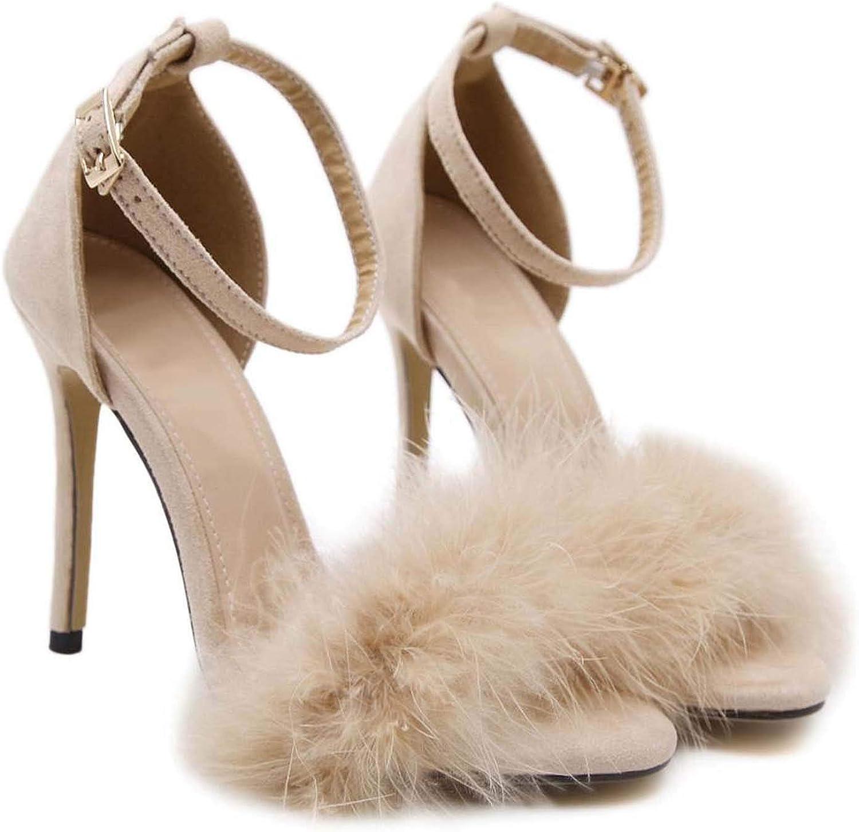 HuangKang Women Sandals Sexy High Heels Sandals Summer shoes for Women Thin Heels Sandals