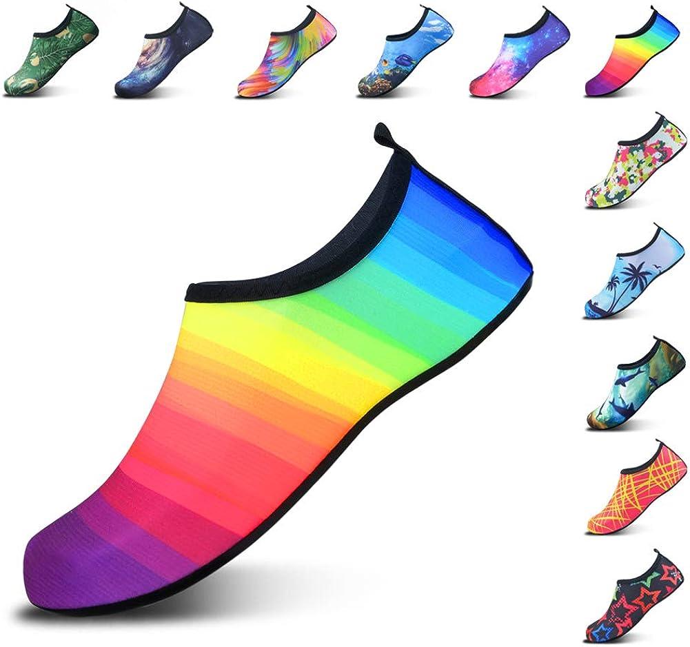 DL Water Shoes for Women and Men Barefoot Quick-Dry Aqua Socks Slip-on for Beach Pool Swim Surf Yoga Exercise