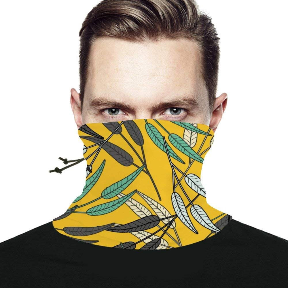 Leaf Unisex Winter Neck Gaiter Warmer Scarf Windproof Multifunctional Face Mask Bandana Reusable for Cold Weather Skiing Running Outdoor Sports