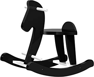 Labebe Child Rocking Horse, Wooden Rocking Horse Toy, Black Rocking Horse for Kid 1-3 Years, Vintage Rocking Horse Set/Kid Rocking Horse Chair/Outdoor Rocking Horse/Rocker/Animal Ride/Rocking Toy