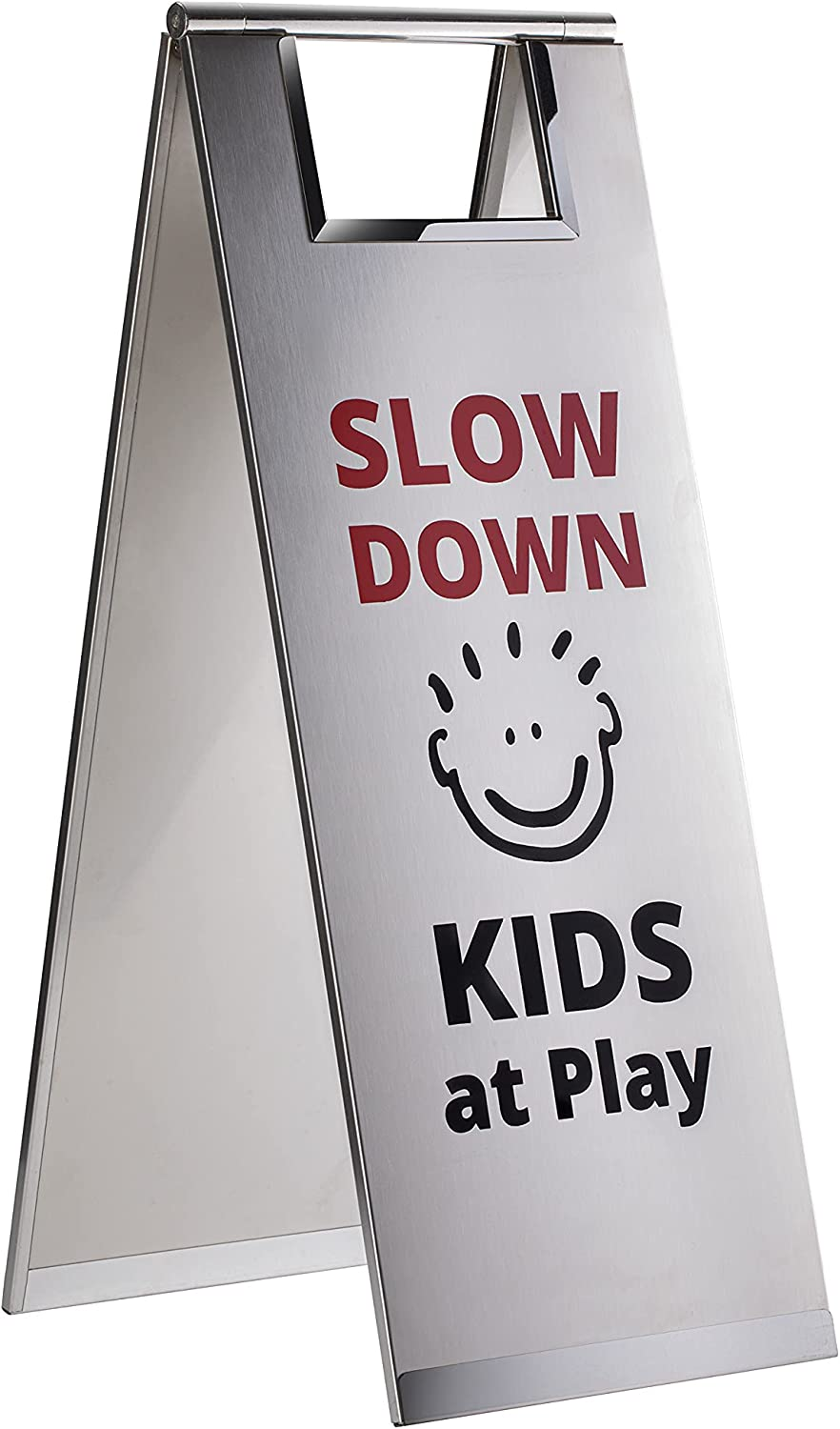 Kids at Play Safety Sign, Stainless Steel by Jolli Designs