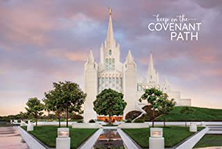 Robert A Boyd Self- Adhesive Poster (Peel & Stick)-San Diego Temple- Covenant Path Series- 12x18/ LDS Temple/Wall Decal/Vinyl/Repositionable