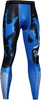 Bmeigo Man Sport Leggings Compression Cycling Running Training Pants Workout Printed Tights Baselayer Gym Fitness Trousers