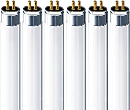 Luxrite F14T5/835 14W 22 Inch T5 Fluorescent Tube Light Bulb, 3500K Natural White, 60W Equivalent, 1140 Lumens, G5 Mini Bi-Pin Base, LR20857, 6-Pack