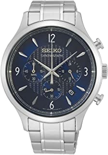 Seiko Men's Quartz Watch, Analog Display and Stainless Steel Strap SSB339P1