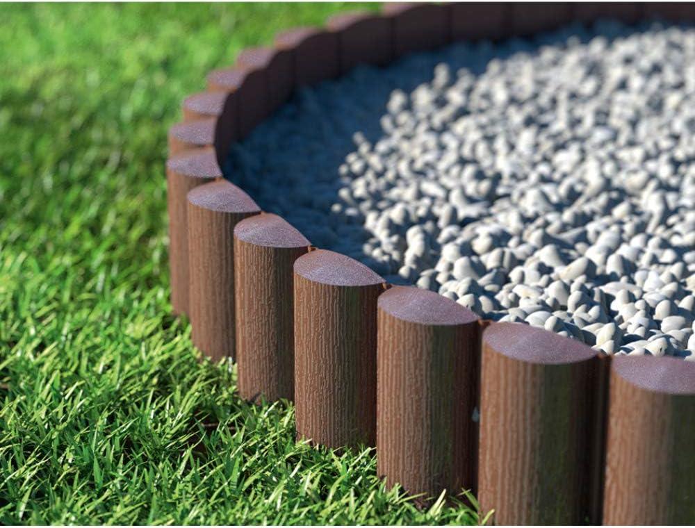Cellfast Eco - Borde para césped (Palisandro, 8 Unidades, 2,4 x 0,3 m), Color marrón (7,2m)