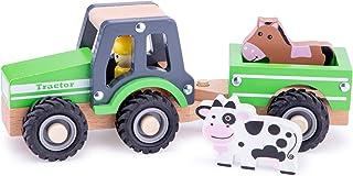 New Classic Toys - 11941 – Leksaksfordon – traktor med släpvagn