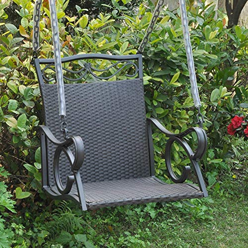 International CaravanInternational Caravan Resin Wicker/Steel Hanging Chair Swing