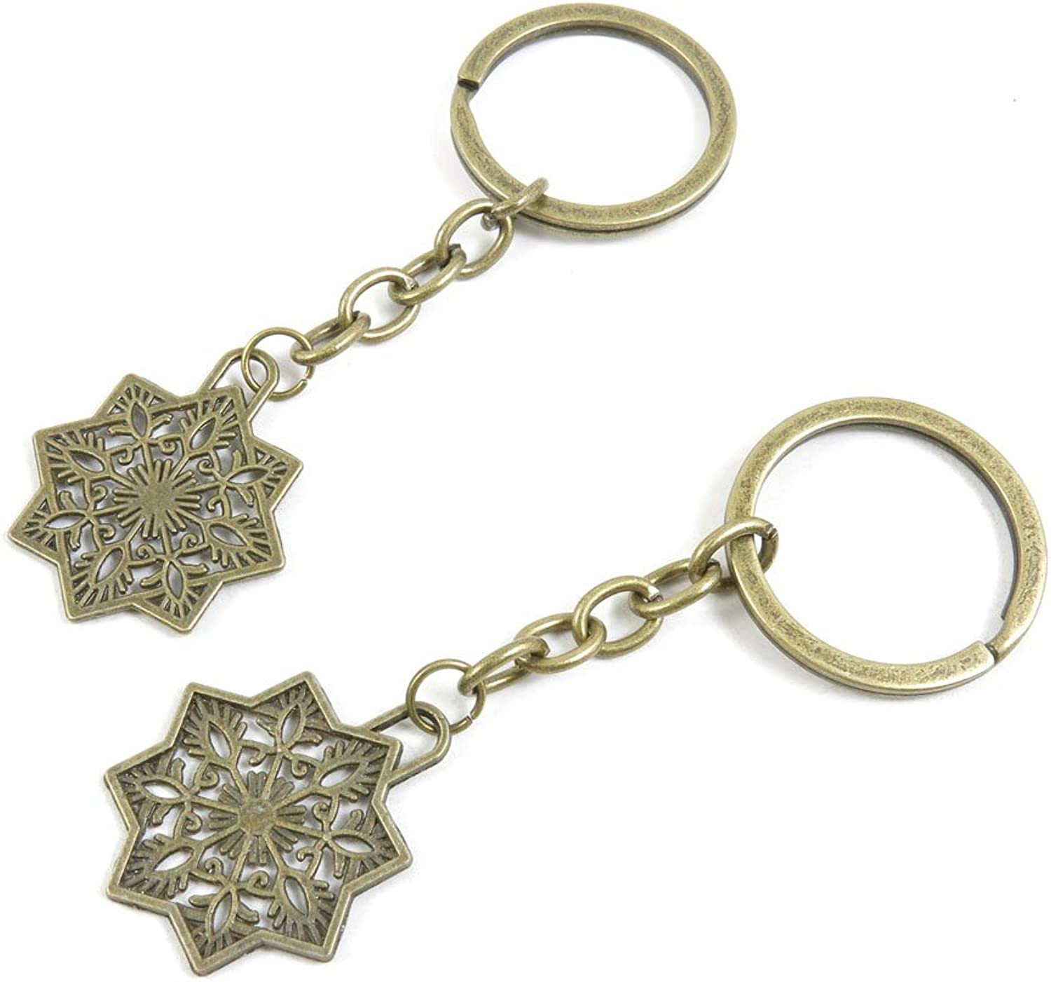 220 Pieces Fashion Jewelry Keyring Keychain Door Car Key Tag Ring Chain Supplier Supply Wholesale Bulk Lots H9RO3 Snow Flower