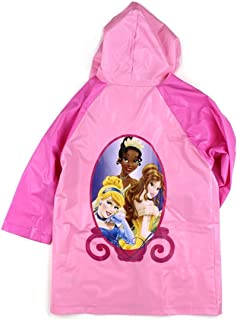 Princess Girls Pink Rain Poncho Raincoat