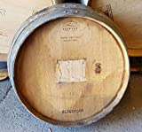 1/4 Wine Barrel Head, Solid Oak from a Napa Valley Winery With cooperage logo