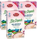Töpfer Bio-Reis-Milchbrei Vanille, 3er Pack (3 x 200g)