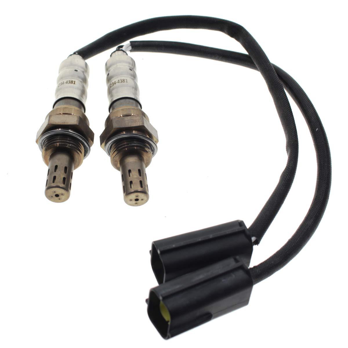 Downstream Oxygen Sensor O2 234-4381 2PCS Set 07-13 For Nissan Altima 2.5L 3.5L